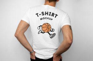 T-Shirt Back Free Mockup (PSD)