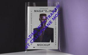 Transparent Cover Magazine Free Mockup (PSD)