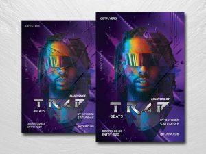 Trap Beats DJ Free Flyer Template (PSD)