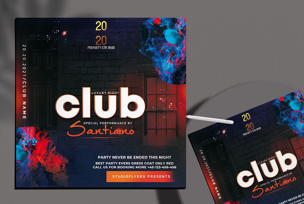 Urban Club Party Free Flyer Template (PSD)