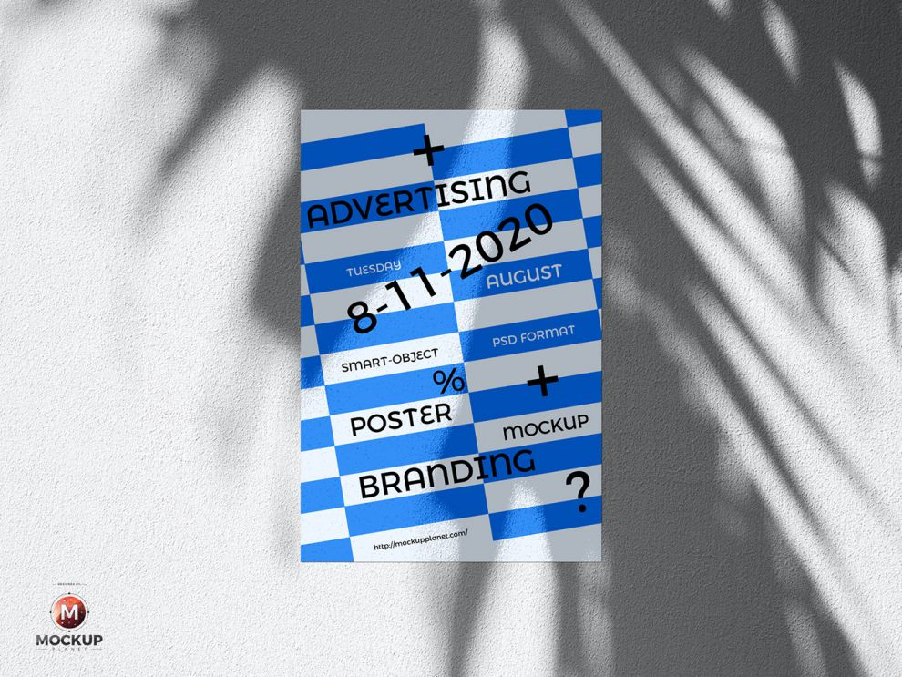 Wall Poster Free Mockup