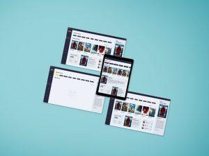 Web Screen Presentation Free Mockup