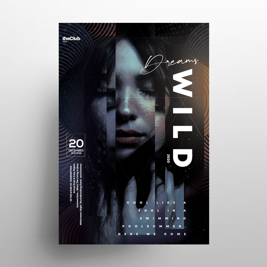 Wild Party Free PSD Flyer