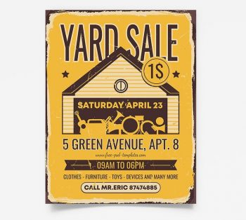 Yard Sale Free PSD Flyer Template