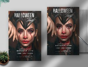 2020 Halloween Party Free Flyer Template (PSD)