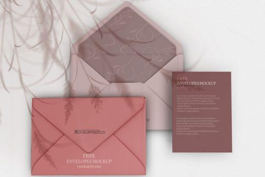 3 Envelopes Free Mockup (PSD)