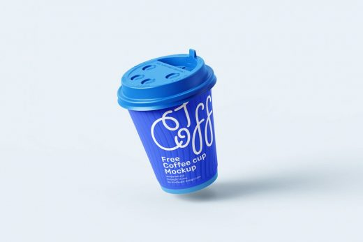4 Paper Coffee Cup Free Mockup