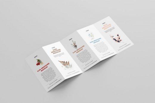 5-Fold Brochure DL Free Mockup
