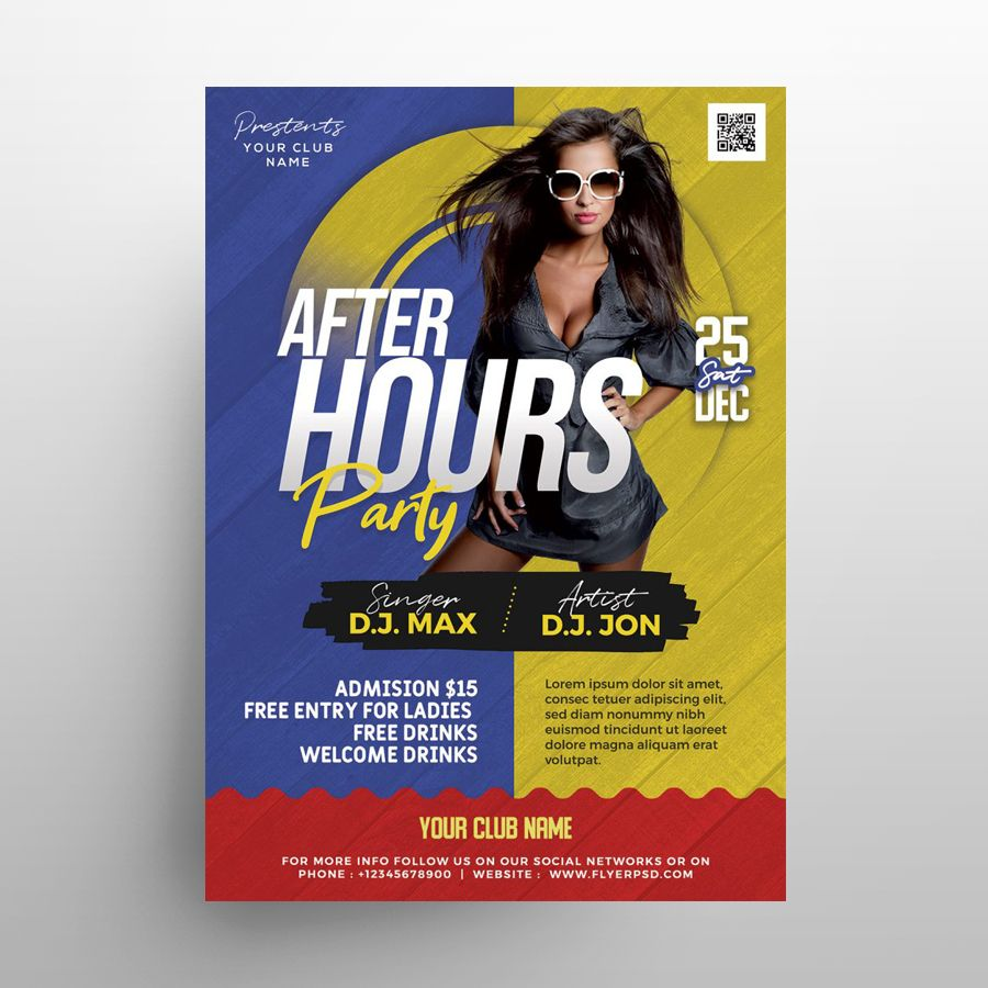 After Hours Free Flyer Template (PSD)