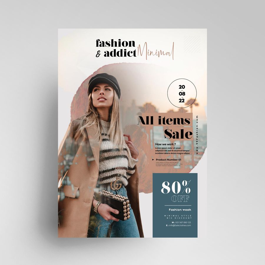 Autumn Fall Flash Sale Free Flyer Template (PSD)
