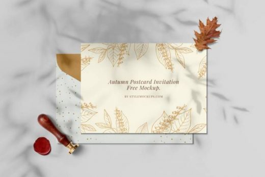 Autumn Invitation Free Mockup