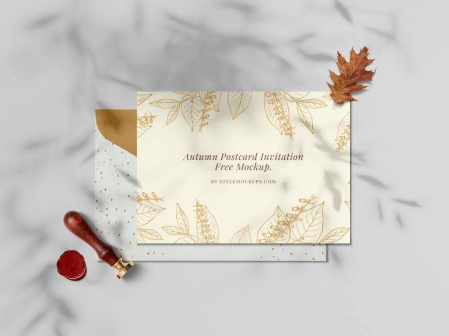 Autumn Invitation Free Mockup