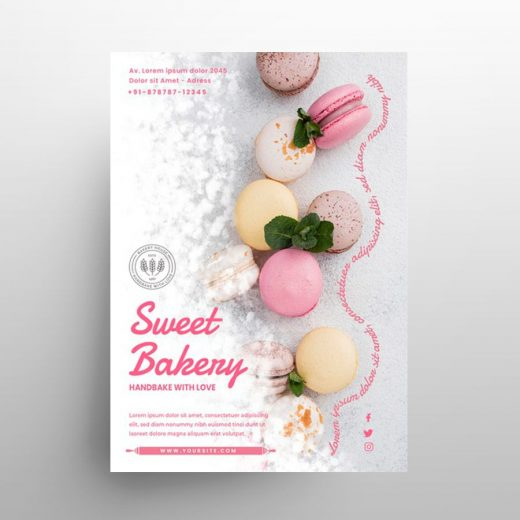 Bakery Shop Ad Free Flyer Template (PSD)