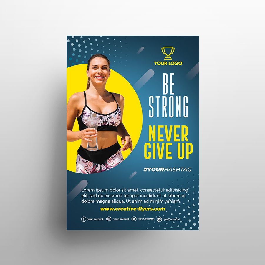 Be Fit Fitness Free Flyer Template (PSD)