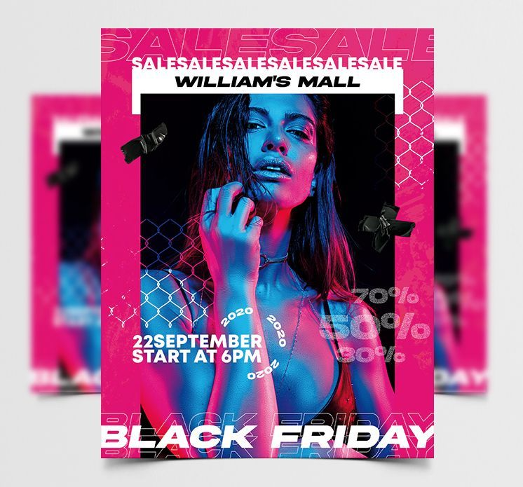 Black Friday Party Free Flyer Template (PSD)
