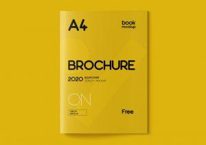 Brochure Catalog Free Mockup (PSD)