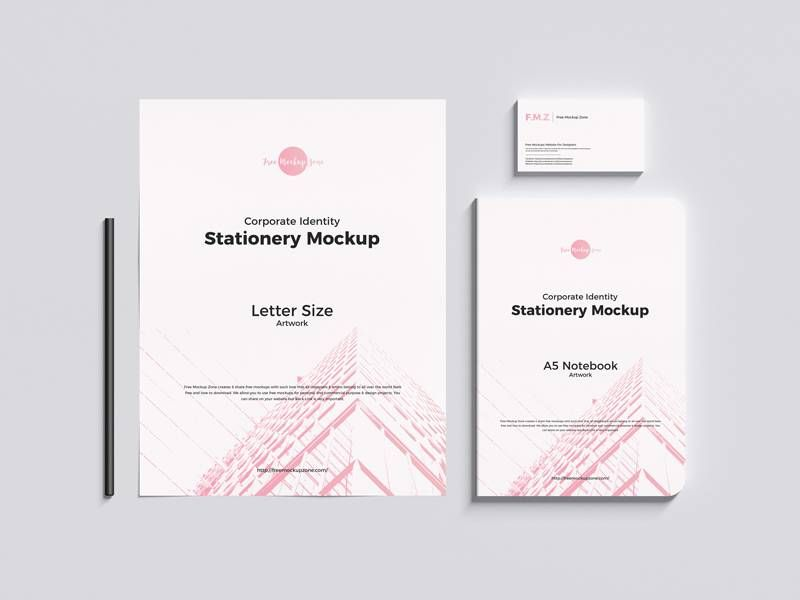 Business Identity Stationery Free Mockup