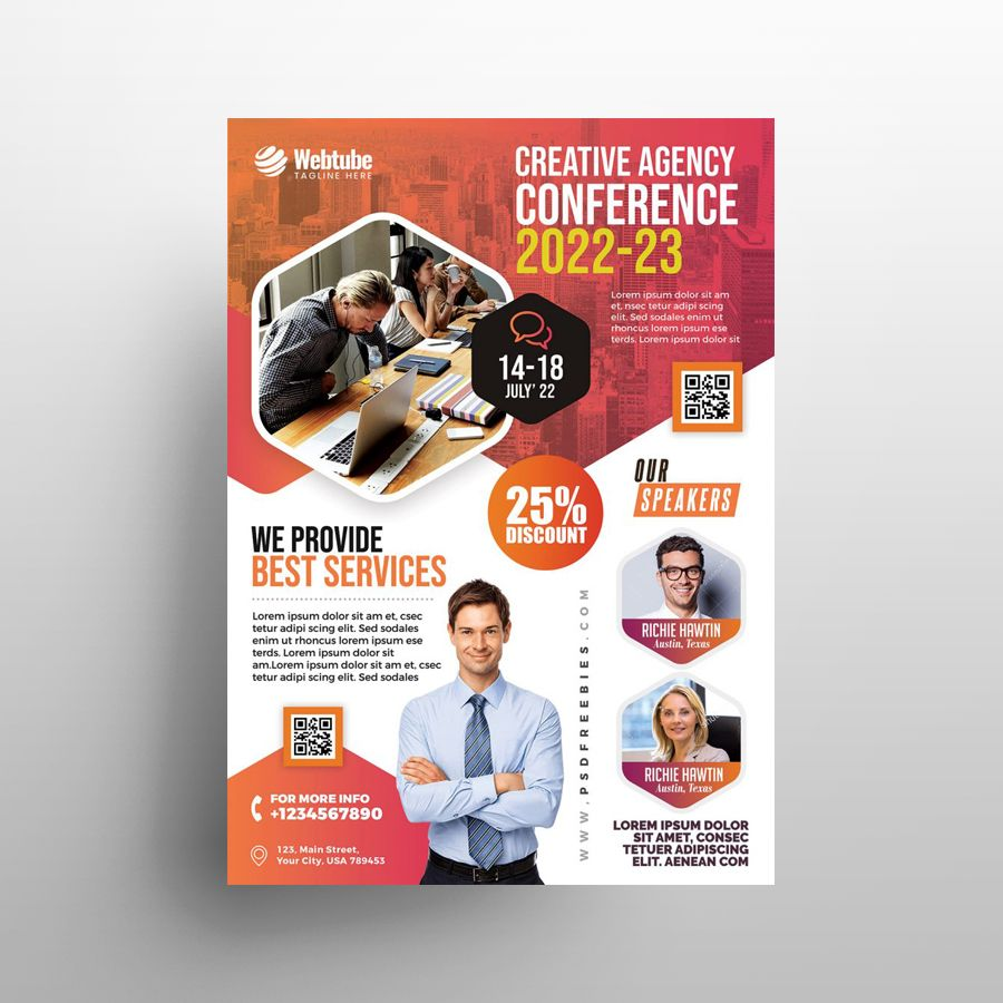 Business Seminar Ad Free Flyer Template (PSD)