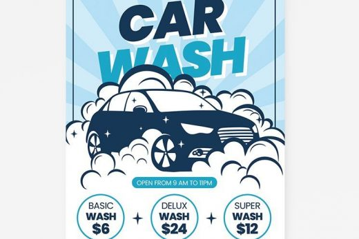 Car Wash Business Free Flyer Template (PSD)