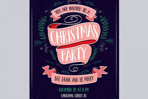 Christmas Invitation 2020 Free Flyer Template (PSD)