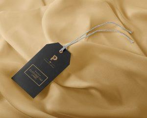 Clothing Tag Label Free Mockup (PSD)