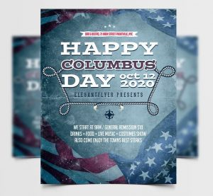 Columbus Day Free Flyer Template (PSD)