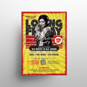 Concert Night Event Free Flyer Template (PSD)