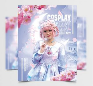 Cosplay Festival Free Flyer Template (PSD)