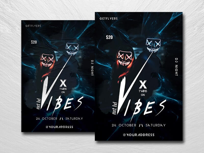 DJ X Vibe Party Free PSD Flyer Template