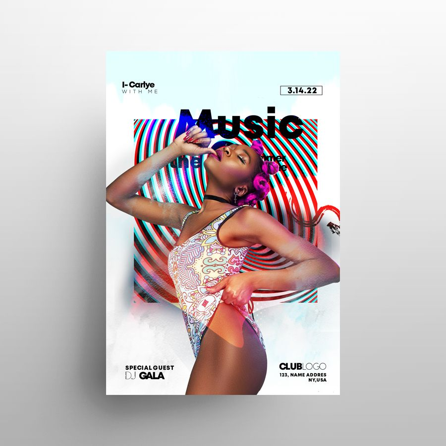 Dance Modern Event Free Flyer Template (PSD)