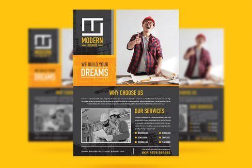 Free Construction Business Flyer Template (PSD)