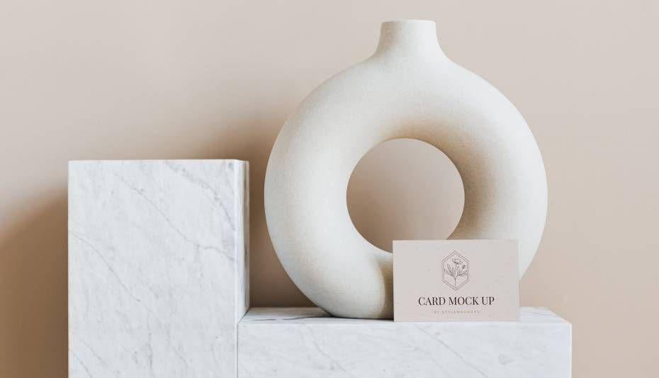Free Elegant Business Card Kit Mockup