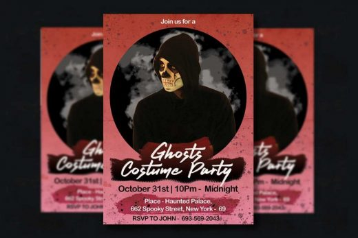 Free Happy Halloween 3 PSD Flyer Templates