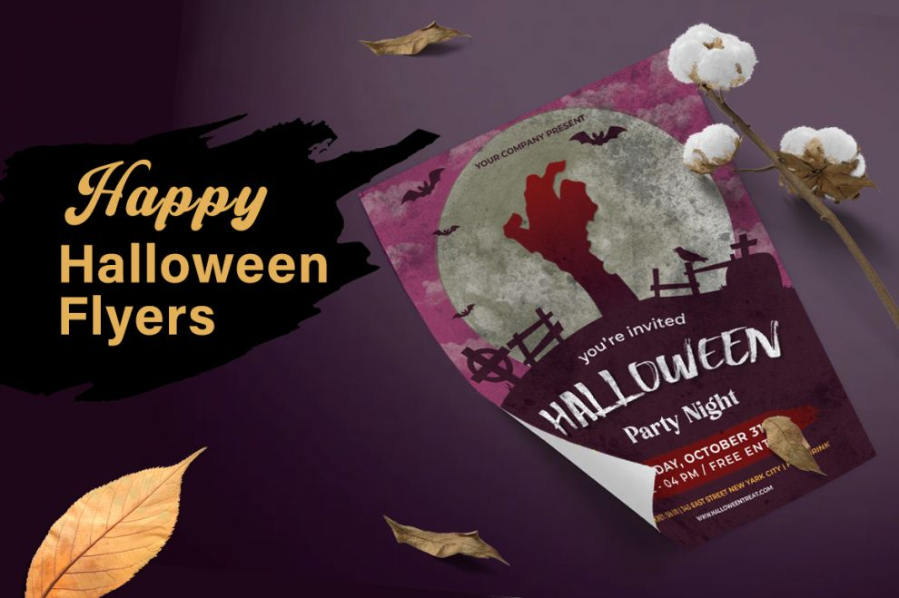 Free Happy Halloween 3 PSD Flyer Templates