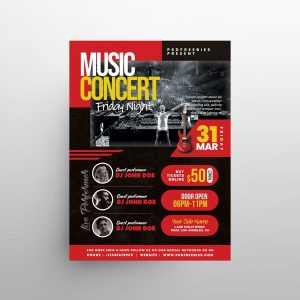 Free Live Concert Night Flyer Template (PSD)