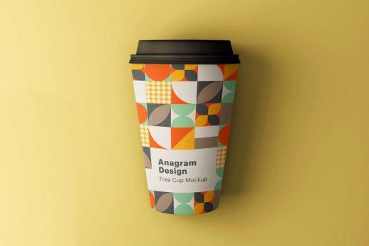 Free Minimal Paper Cup Mockup