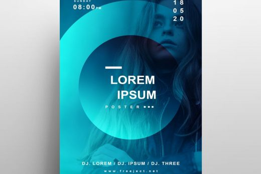 Free Minimalist Concert Party Flyer Template (PSD)