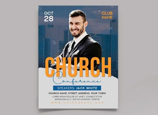 Free Modern Church Event Flyer Template (PSD)