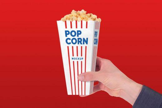 Free Popcorn Paper Box Mockup