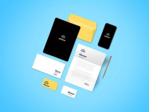 Free Stationery Brand Mockup (PSD)