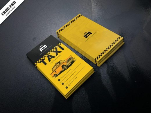Free Taxi Service Business Card Template