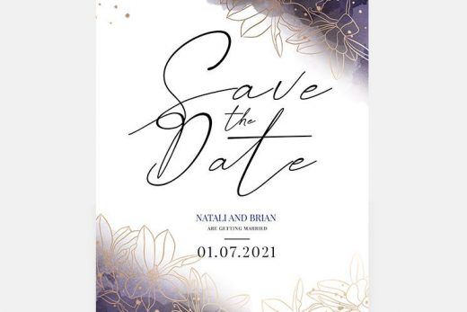 Free Wedding Invitation PSD Templates