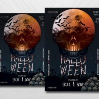 Halloween Party Vibe Free Flyer Template (PSD)