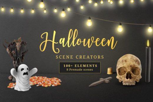 Halloween Scene Creator Free Mockup