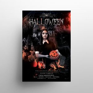 Halloween Weekend Party Free Flyer Template (PSD)