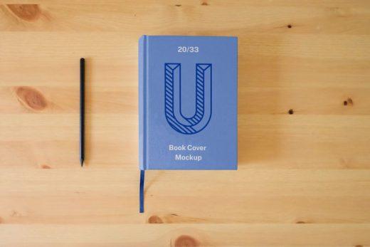 Hard Book Cover Free Mockup (PSD)
