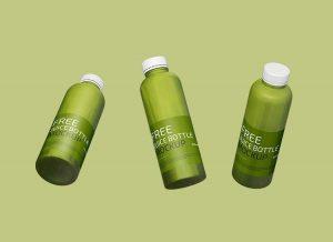 Juice Bottle Free Mockup