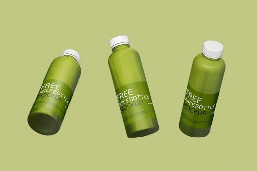 Juice Bottle Free Mockup