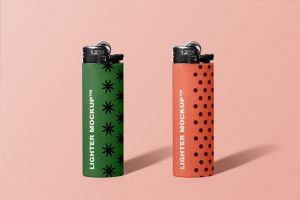 Lighter Free Mockup (PSD)