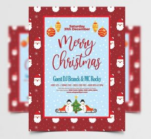 Merry Christmas to You Free Flyer Template (PSD)